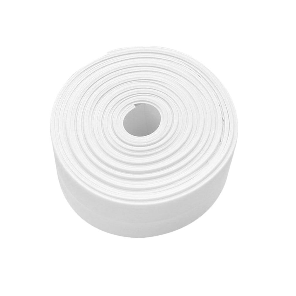 White Mildewproof Wall Caulk Tub Surround Sealer Trim Waterproof Mold Proof Self Adhesive Tape Kitchen Bathroom Toilet Sealant
