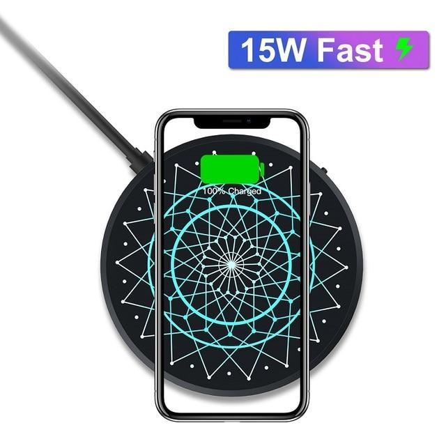 NILLKIN cargador inalámbrico para móvil, cargador de carga completa de 15W, para Samsung S20 Ultra, Mi 9 Xiaomi, 2,5 h, iPhone 11, XS, XR, samsung Note 10