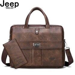 JEEP BULUO Business Reise Handtasche büro Business Männlichen Tasche Für A4 Dateien Mann Aktentasche Große Größe 15 zoll Laptop Taschen tote tasche