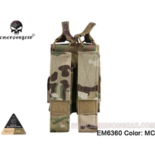 emersongear Emerson MP7 Magazine Pouch Double Mag Pouch For MP5 MP7 KRISS MOLLE Magazine Holder Airsoft Military Army Gear emersongear emerson double mag pouch for ss vest 556 762 magazine plate pouch airsoft hunting mag holder pouch multicam