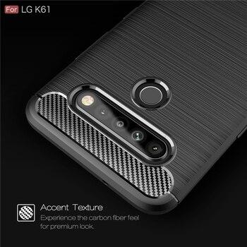 Перейти на Алиэкспресс и купить Чехол для LG K61, чехол для LG K61, защитный противоударный армированный силиконовый бампер, чехол для телефона LG K61 K60 K40S K41S, Fundas