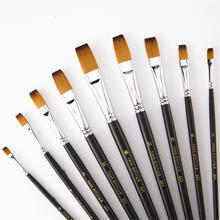 Gouache-Paint Numbers-Brushes Oil-Painting-Accessories Watercolor by 9pcs/Set