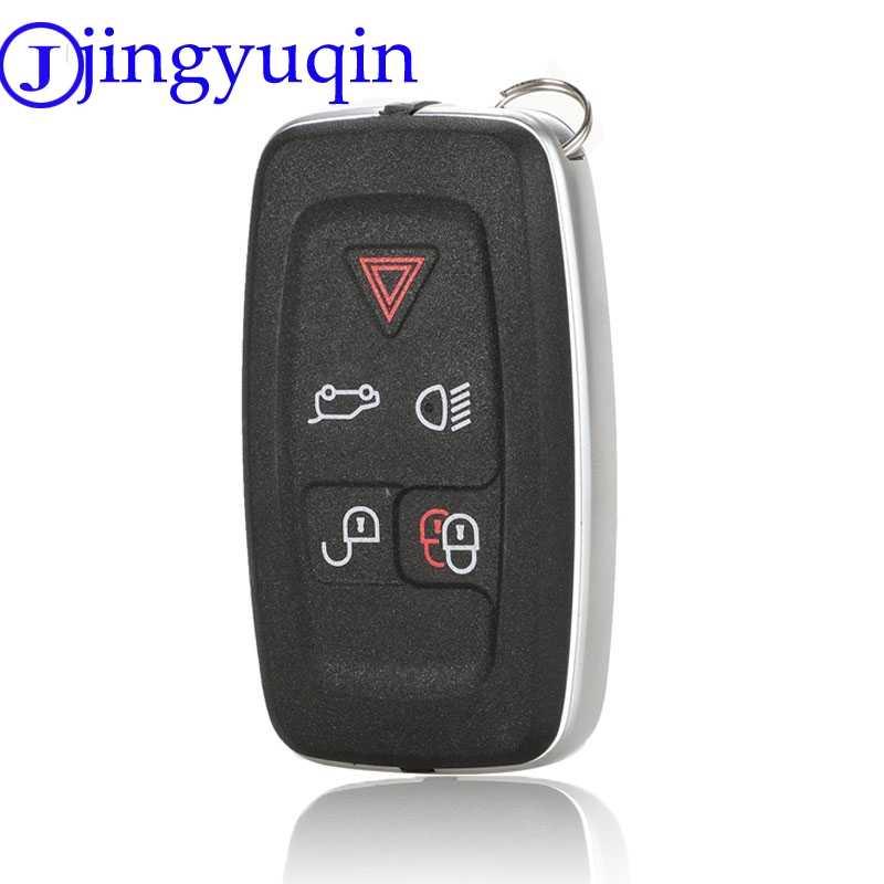with Key Chain Funda para Llave de Range Rover Smart Remote Fob 5 Botones Sport Evoque Vogue LR4 iscovery 4 Land Rover Shell con Llavero Silver