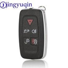 Jingyuqin 5 ปุ่มที่อยู่อาศัยที่สำคัญสำหรับ Land Rover Range Rover Sport lr4 Vogue 2010 2013 ระยะไกลพวงกุญแจครอบ
