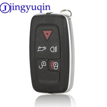 jingyuqin 5 Button Key Housing For LAND ROVER RANGE ROVER SPORT LR4 Vogue 2010 2013 Remote Keychain Cover Cover