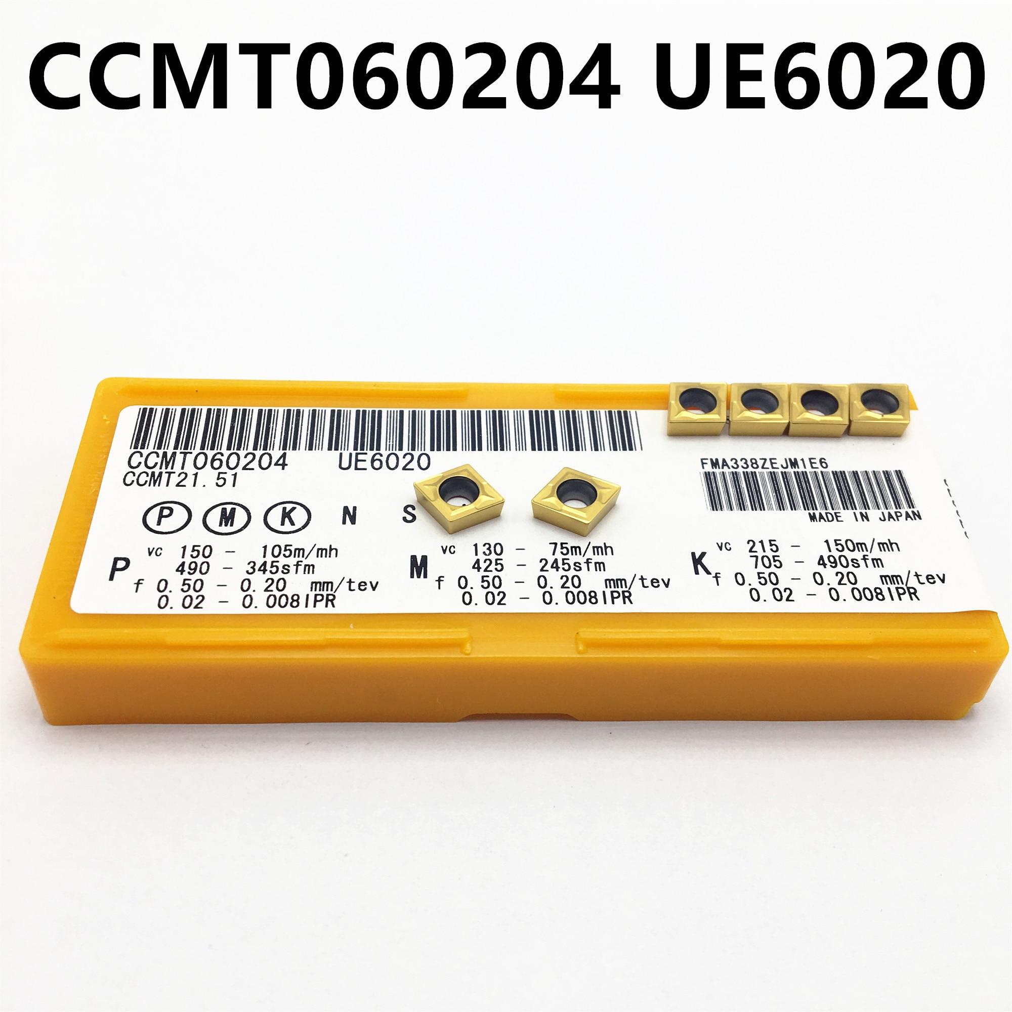 20PCS CCMT060204 US735/US735/VP15TF Carbide Inserts Inside Round Car Tool CCMT 060204 CNC Tool Turn Tool