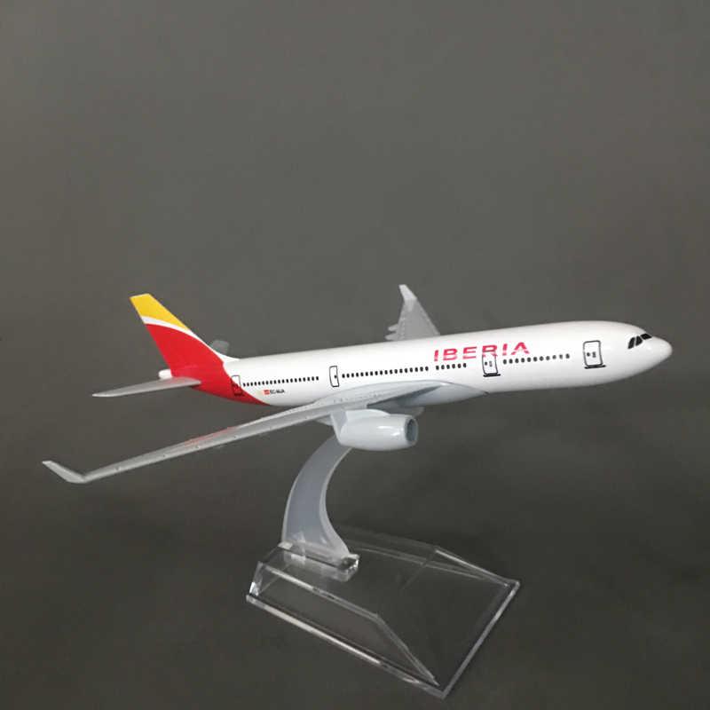 JASON TUTU España Iberia Airlines A330 avión modelo de avión Diecast Metal de aviones modelo 16cm el avión de las 1:400
