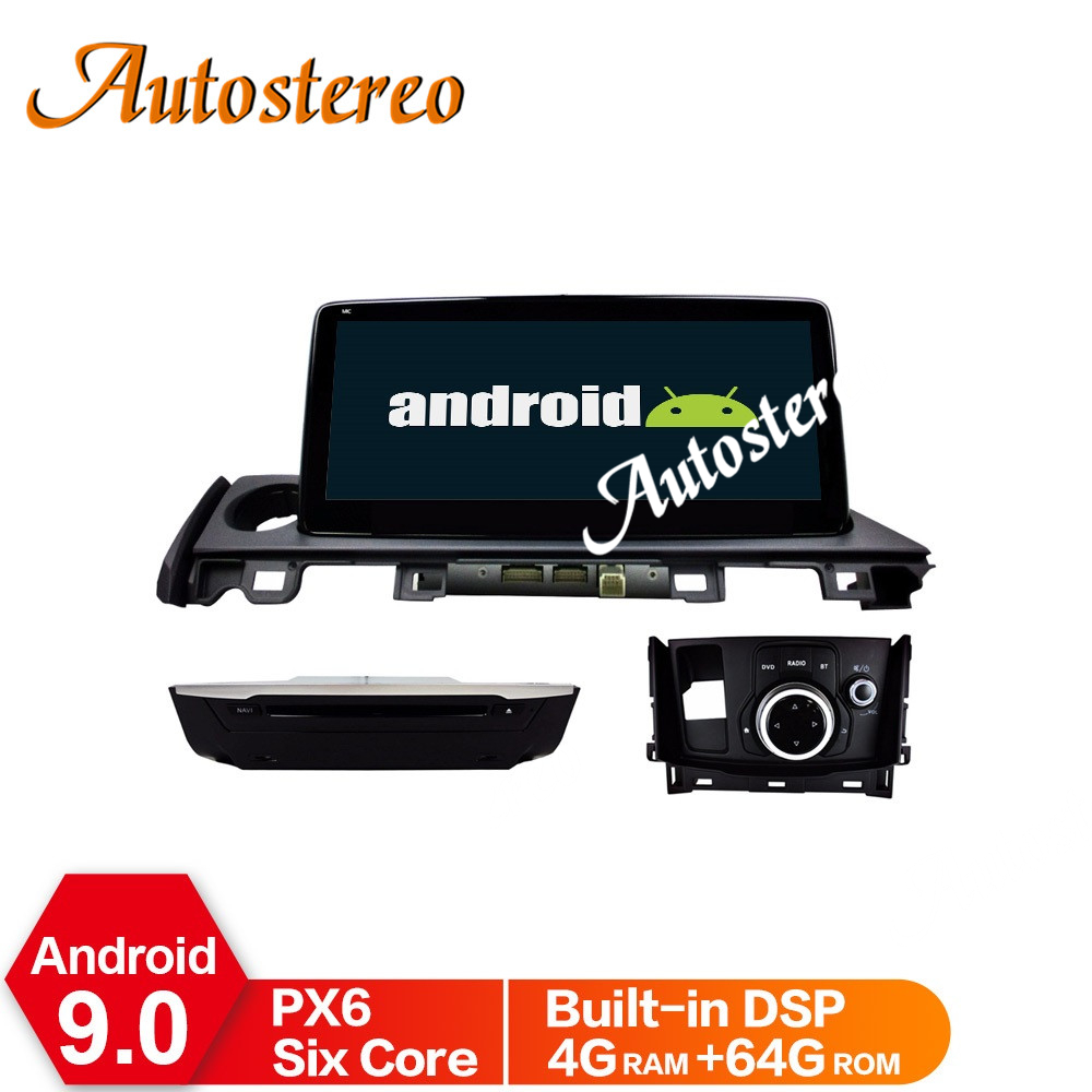 Android 9.0 PX5/PX6 Car No DVD Player <font><b>GPS</b></font> Navigation For <font><b>Mazda</b></font> <font><b>6</b></font> 2017-2018 Multimedia Player Radio Recorder Stereo Head Unit DSP image