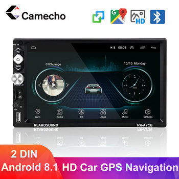 Camecho 2din Android 8.1 Car Multimedia Player Universal Car Radio 7'' Touch Bluetooth Car Audio Stereo GPS Navigation Autoradio image