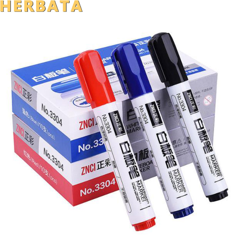 1 Pc Double-headed Note Pen Whiteboard Pen Erasable Writing Whiteboard Marker Special Pen Red Blue Black Water-based Pen