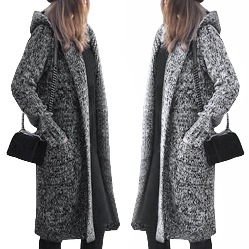 Long Cardigan Ladies 2019 Fall Fashion Long Knit Sweater Women's Blend Coat Casual Black Jacket Winter Clothing Sweaters
