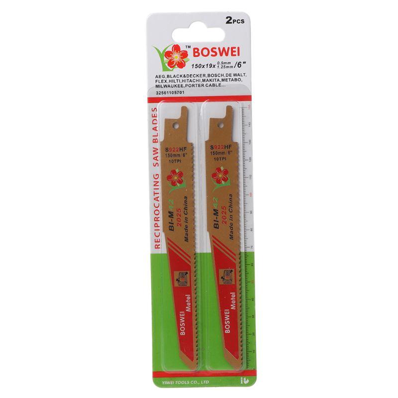 2PCS Gold BIM Reciprocating Sabre Saw Blades Set For Cutting Metal Professional S922HF Tools Kit