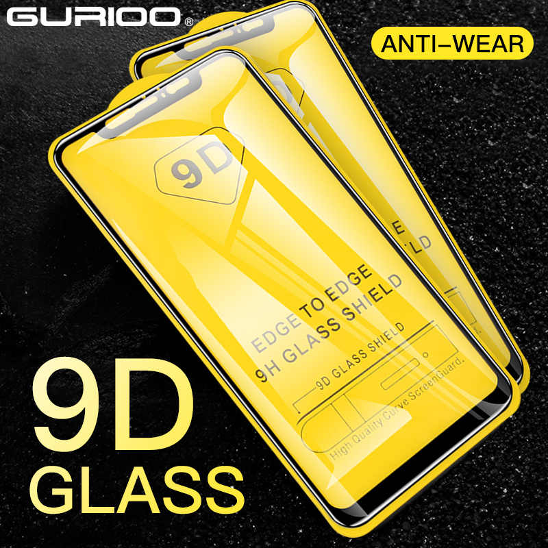 2Pcs 9D Tempered Glass Di untuk Xiaomi Mix 2 2S 3 4 A1 A2 Lite A3 HD Screen Protector Film untuk Mi Note 3 4 Poco F1 F2