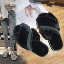 цены Liren 2019 Indoor Slippers Small New Female Slippers Bow Decoration Twist Braided Open Toe Slippers Flat Crystal Slide Fashion