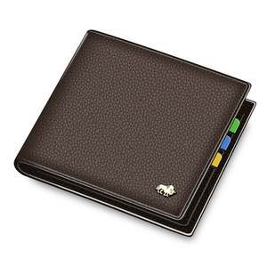 Image 5 - BISON DENIM Genuine Leather Men Wallets Brand Luxury RFID Bifold Wallet Zipper Coin Purse Business Card Holder Wallet N4470
