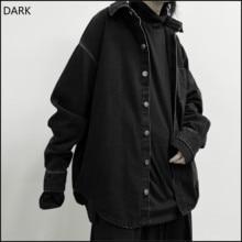 [DARK] The Dark 2021 Autumn New Female Spring Autumn Coat Loose Korean Version BF Wild Denim Jacket Jaket Women Trend Femme