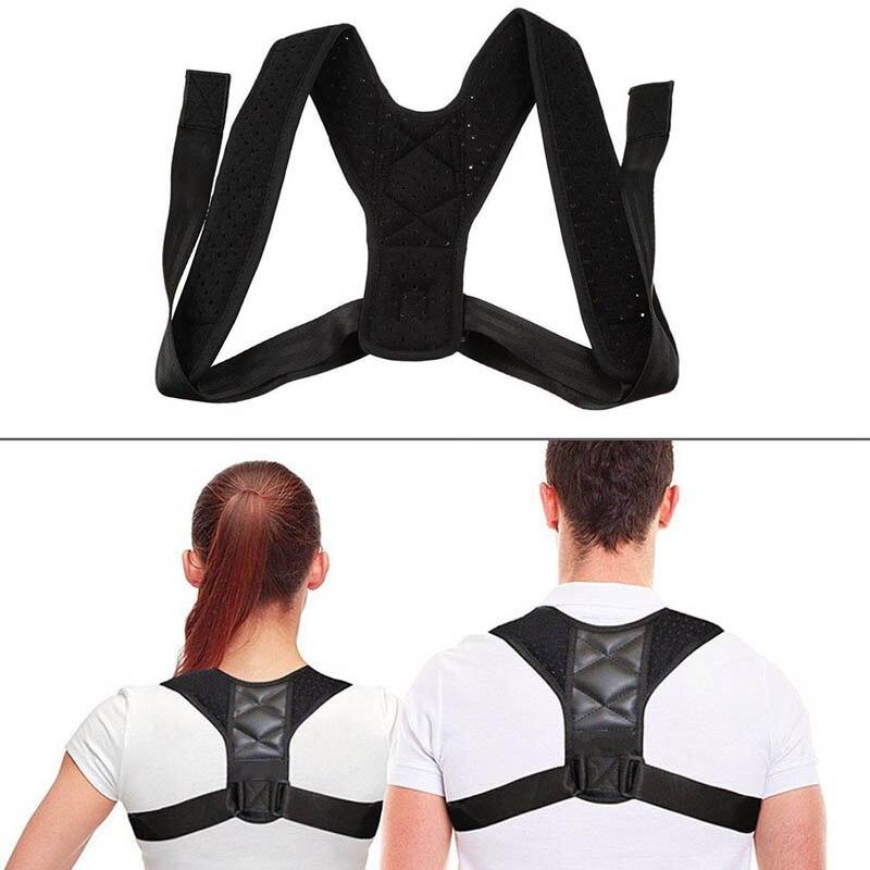 Posture Corrector Adjustable Back Shoulder Support Correction Belt For Adult Kids DIN889