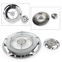 Chrome Motorcycle RSD Derby Timing Timer Cover For Harley Road King Electra Glide Softail FXS FXDL FXDC FLHRS etc.
