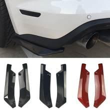 Parachoques trasero Universal para coche, difusor de alerón, divisor, Protector de arañazos, ligero y duradero, con 6 tornillos, 2 uds.