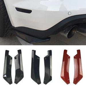 2Pcs Universal Car Rear Bumper Lip Spoiler Diffuser Splitter Scratch Protector Universal Durable Lightweight with 6 Screws