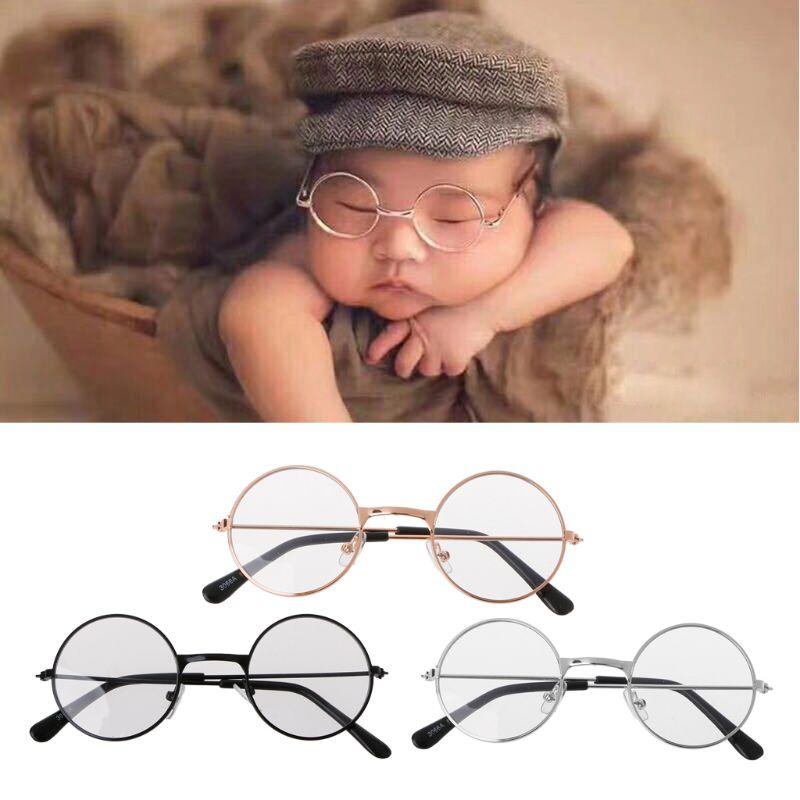 Newborn Baby Girls Boys Flat Glasses Photography Props Gentleman Studio Shoot