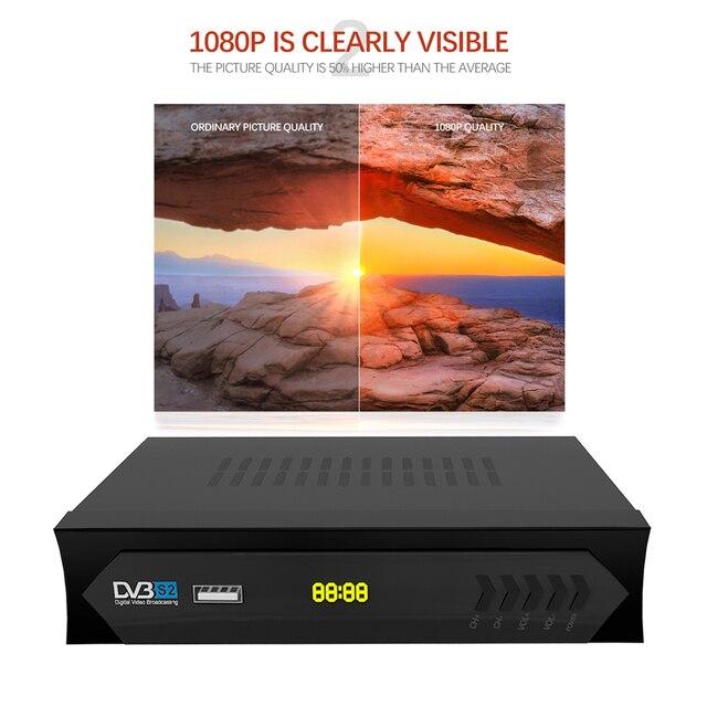 Vmade European C line HD DVB S2 M5 lnb satellite receiver full 1080P Spanish Portuguese Arabic TV box with USB Wifi reception