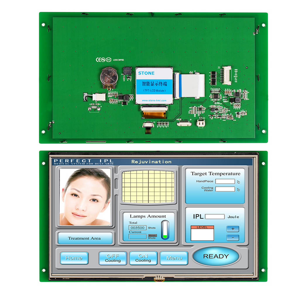 10.1 Inch Resistive HMI TFT  LCD Touch Screen With High Brightness For Industrial Use