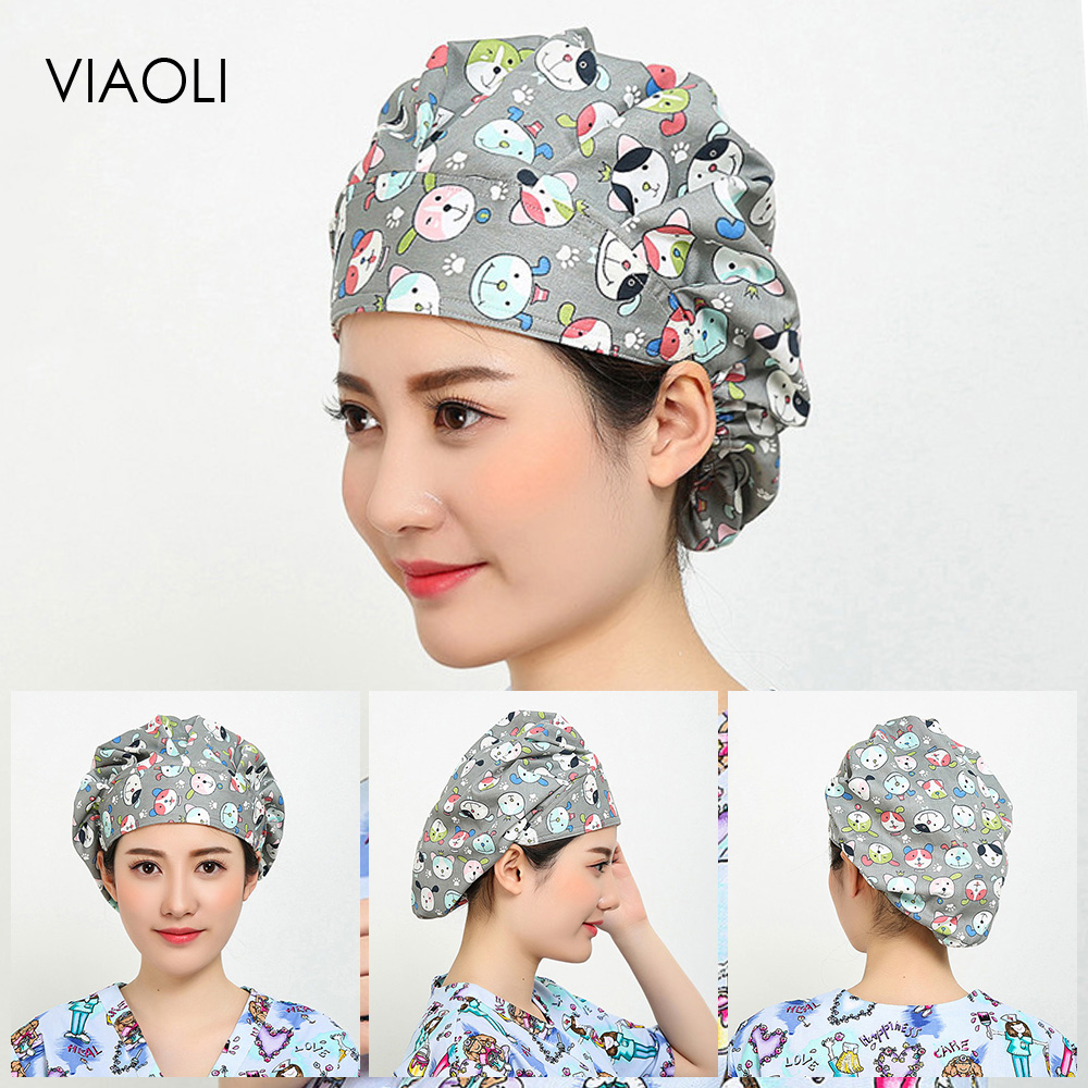 Pet Hospital Operating Room Hat High Quality Medical Work Caps Nursing Scrubs Hat Surgical Cap Women And Men Doctor Surgery Caps