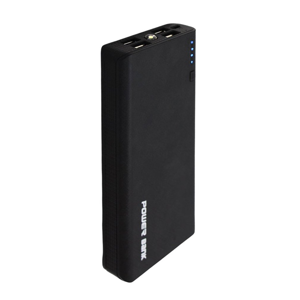Rechargable <font><b>Powerbank</b></font> 6000mAh <font><b>4</b></font> USB Ports External <font><b>18650</b></font> Battery Charger Power Supply Portable Charger Batteries With LED Light image