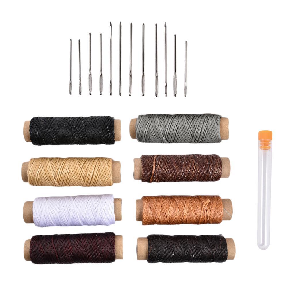 Вощеная нить 150D швейная нить для кожи с большими глазами швейные иглы кожаные проекты Швейные аксессуары