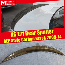 E71 Spoiler Rear Lip Wings Carbon Fiber P Car Styling For BMW X Series X6 Auto Rear Trunk Spoilers Tail Wings Stem Lip 2009-2014 x6 e71 carbon fiber car rear trunk lip spoiler wing for bmw 2008 2013