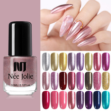 NEE JOLIE 3.5ml Glitterly Nail Polish Shimmer Shiny Gold Silver Colors Twinkling Art Varnish Manicure 24