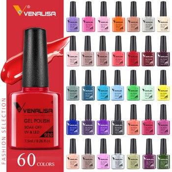 VENALISA Nail Gel Polish Semi Permanent Gellack Nail Art Salon 120 Color Glitter 7.5ml Soak off Organic UV LED Nail Gel Varnish 1