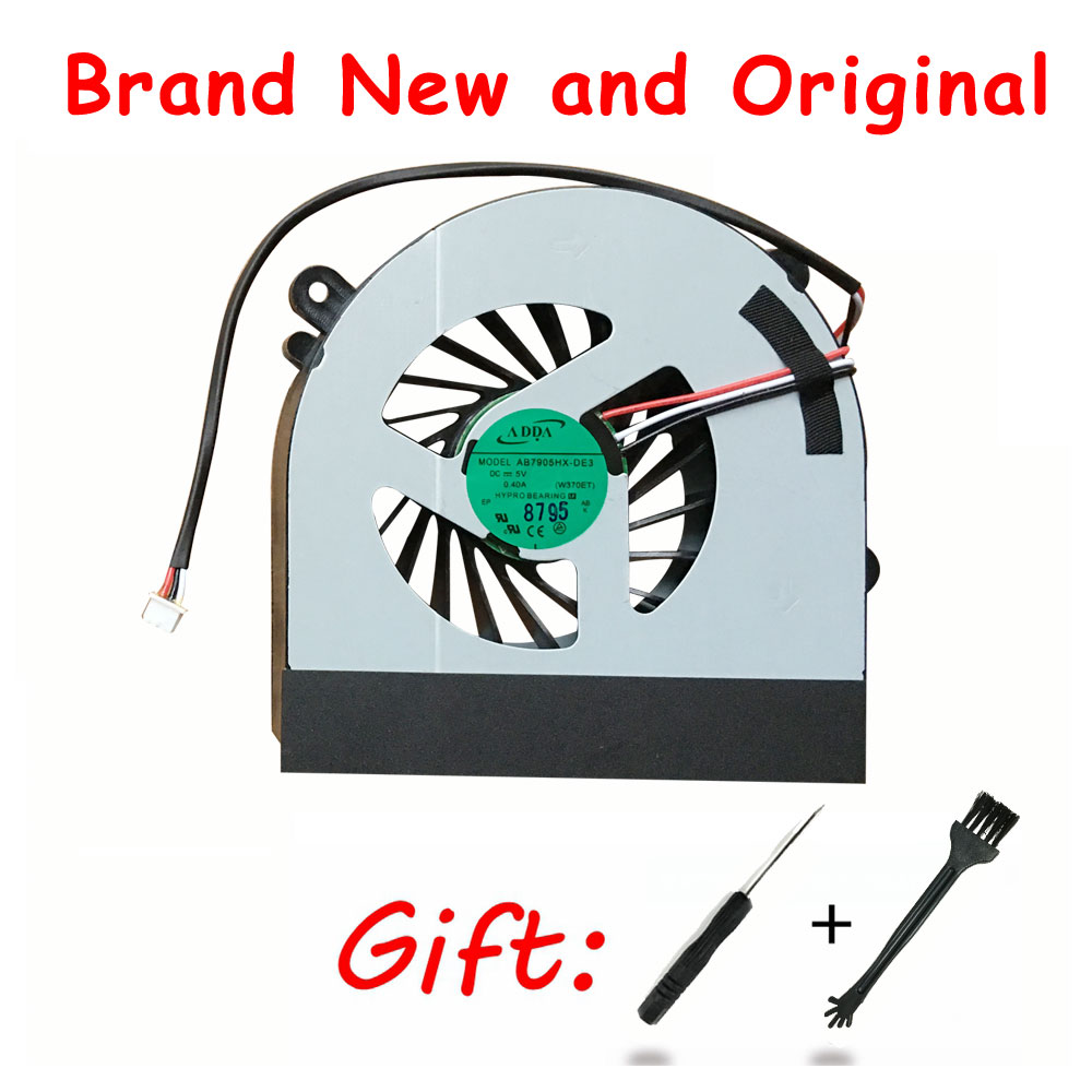 New laptop CPU cooling fan Cooler Notebook Fit for Hasee Clevo W150 W150er W350 6-23-AW15E-011 6-31-W370S-101 Laptops Fans 1