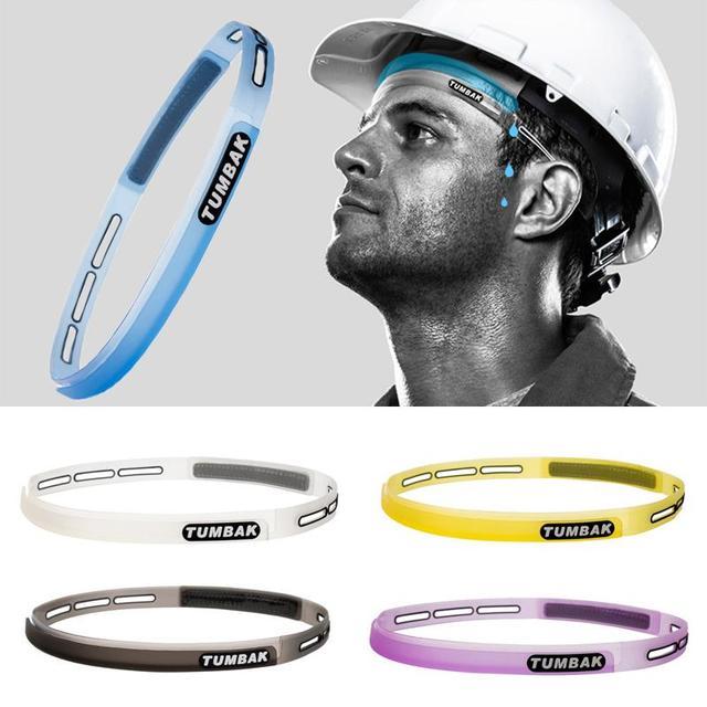 Head Sweatband Headband Unisex Silicone Sports Guiding Belt Sweat Sweat Cycling 5
