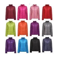 겨울 여성 90% 울트라 라이트 다운 재킷 화이트 오리 후드 자켓 긴 소매 따뜻한 코트 파카 여성 솔리드 휴대용 아웃웨어