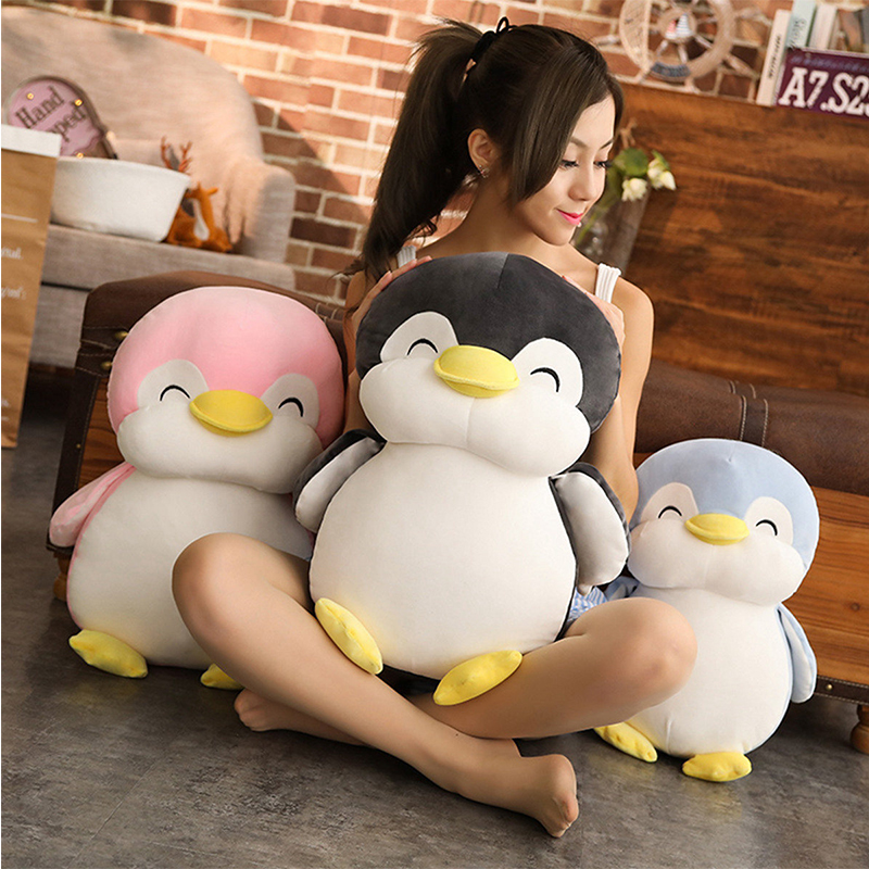 30-55cm Soft Fat Penguin Plush Toys Stuffed Cartoon Animal Doll Fashion Toy For Kids Baby Lovely Girls Christmas Birthday Gift