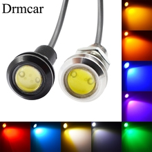 купить Waterproof 18mm/23mm Black/White Shell 9w DC 12V Led Eagle Eye Light Daytime Running Backup Car Motor Parking Signal Lamps онлайн