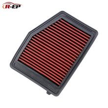 R EP panel zamienny filtr powietrza pasuje do Honda Civic Acura IXL 1.8L 2.0L 2012 2018 17220 RIA A01 zimny dopływ powietrza zmywalny