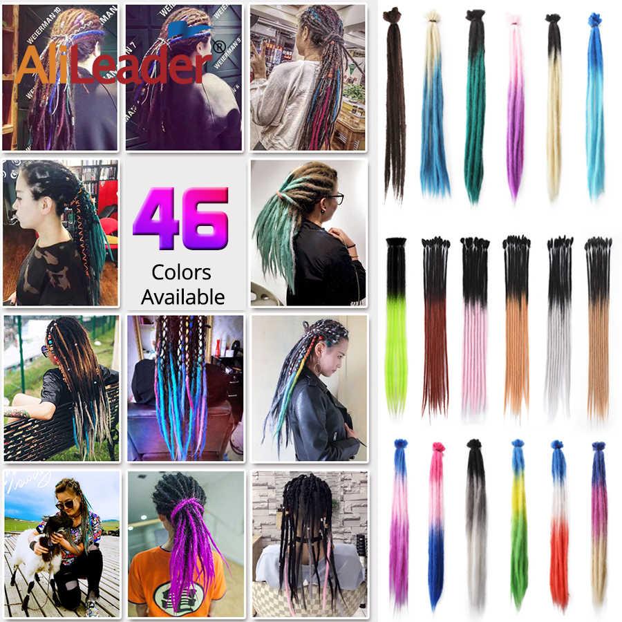 Alieader 20 дюймов длинные дреды ручной работы синтетические волосы кроше для наращивания хит продаж вязанные косички волос 53 цвета