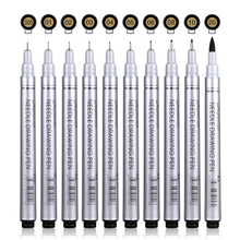 Micron Needle Drawing Pen Waterproof Pigment Fine Line Sketch Markers Pen For Writing Hand-Paint anime Art Supplies 10 Sizes