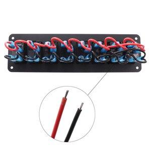 Image 5 - Wasserdichte 8 Gang Switch Panel Für Marine Boot Caravan RV Universal Kippschalter AUF OFF Rocker Panel Mit Rot blau Licht 12/24V