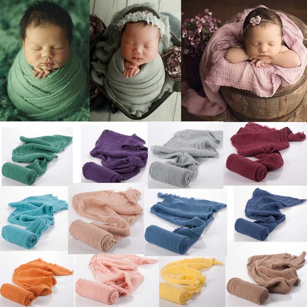 2020 Newborn Photography Props Baby Wraps Photo Shooting Accessories Photograph Studio Blanket Backdrop Mohair Elastic Fabric