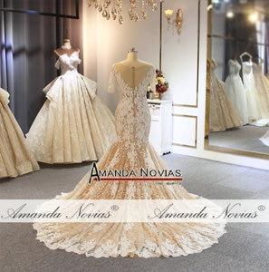 Image 5 - 2019 abito da sposa Mermaid ordine del cliente di colore stile della spiaggia di modo del vestito