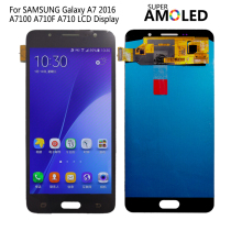 AMOLED For SAMSUNG Galaxy A7 2016 LCD Display A710 A7100 A710F LCD Touch Screen Digitizer Replacement For Samsung A710 LCD