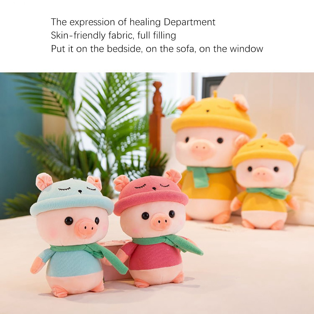 Educational Kids Pig Stuffed Animal Plush Pig Toy Kids Gifts Baby Toy 7.8 inches Stuffed Plush Animals Baby Accompany Doll Gift