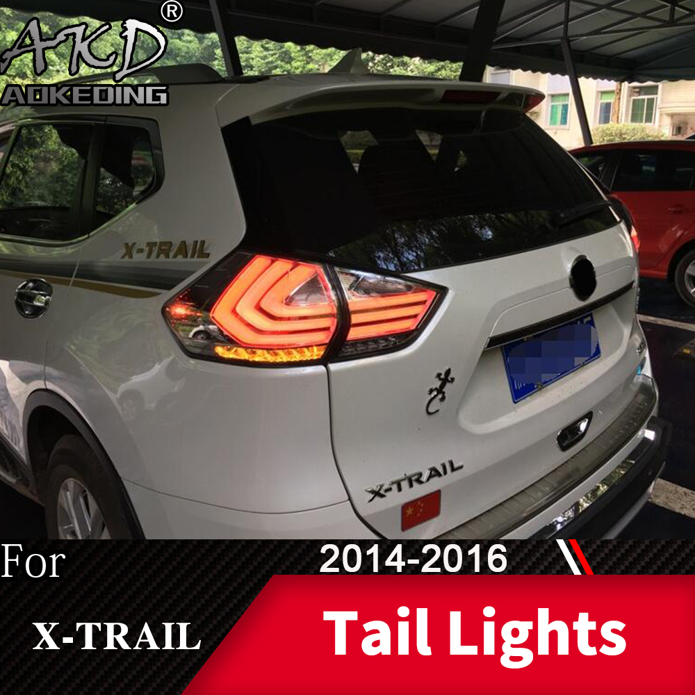 Tail Lamp For Car <font><b>Nissan</b></font> <font><b>X</b></font>-<font><b>trail</b></font> 2014-2017 Rouge <font><b>LED</b></font> Tail Lights Fog Lights Daytime Running Lights DRL Tuning Cars Accessories image