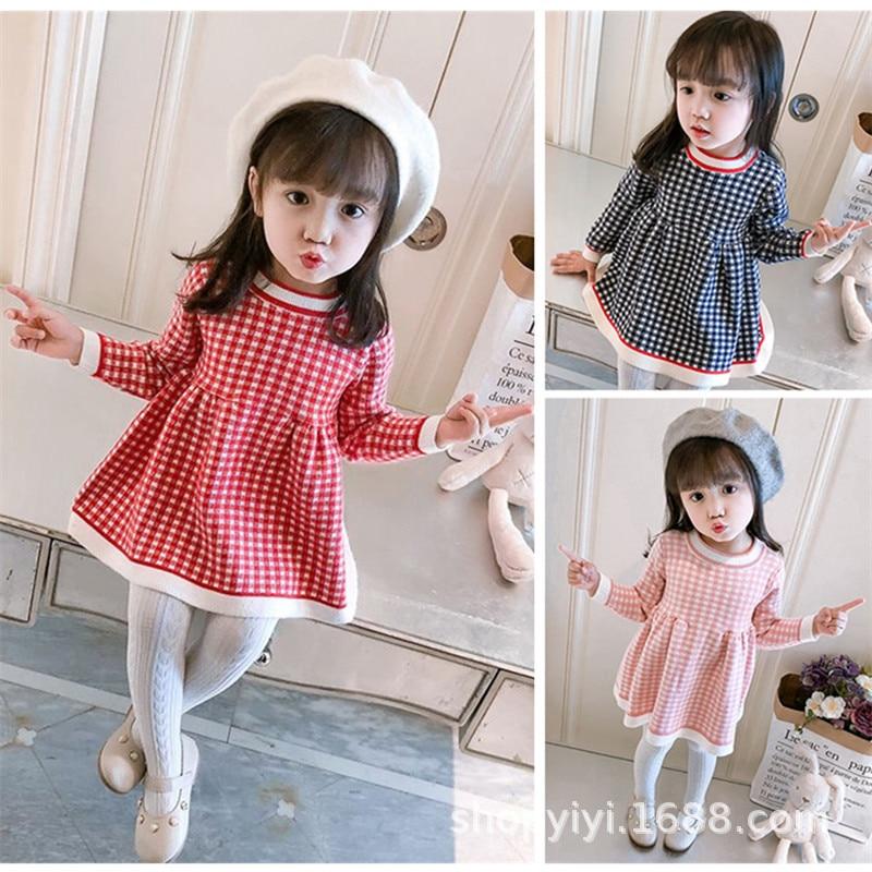New Style Dress 2019 New Style CHILDREN'S Sweater Children Hot Selling Kids' Skirt Baby Women's INS CHILDREN'S Sweater Skirt