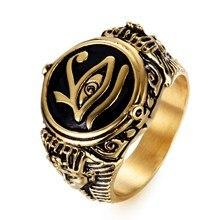 Anillo retro a la moda para hombres de SECRET BOYS con ojos de Faraón egipcio misterioso, anillo para hombre, joyería para fiestas y espectáculos
