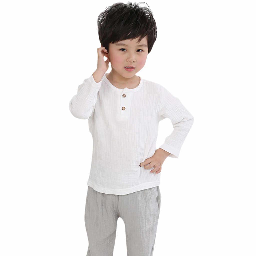 夏の幼児の子供の綿固体ベビー少年少女 Tシャツトップス Tシャツ子供服ボタンプリント半袖 O-ネック Tシャツトップス少年
